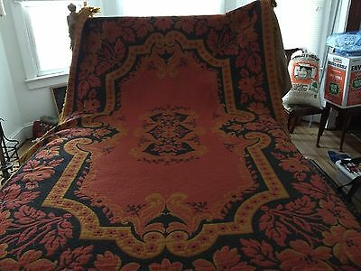 VINTAGE LUXURY THROW PRADO MADE IN ITALY 82 X 213 inches includes fringes.