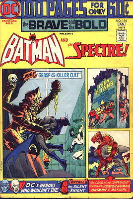 Brave and the Bold #116 VG 1975 DC Batman & The Spectre 100 Pager Comic Book
