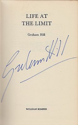 Graham Hill Formula 1 Champion Autograph Signed F1 Book Life at the Limit