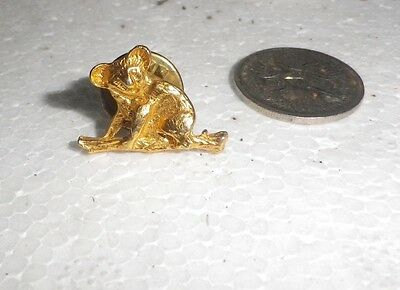 Vintage 1960s Australian Animal KOALA Lapel Pin  Brooch gold retro- NZ  Estate