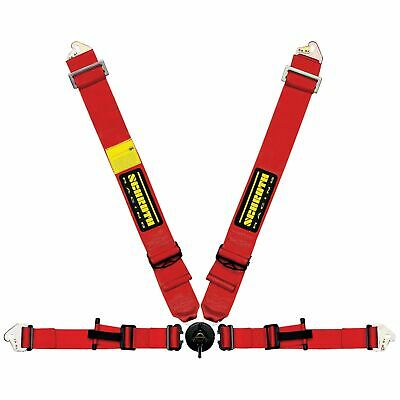 "Schroth Profi II ASM 4 Point 3"" FIA Approved Race Seat Harness - Red"