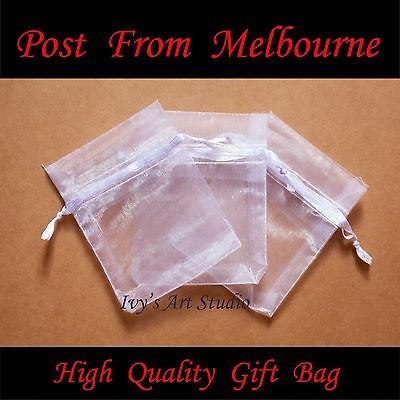 50/100 PCS White Organza Bags Wedding Gift Pouch Bag Jewelry Packing SML