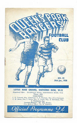 1937/38 Division 3 South - QUEENS PARK RANGERS v. WALSALL