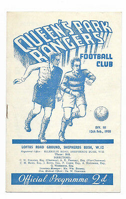 1937/38 Division 3 South - QUEENS PARK RANGERS v. BRISTOL ROVERS