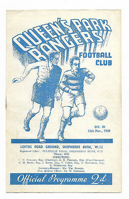 1937/38 Division 3 South - QUEENS PARK RANGERS v. NOTTS COUNTY