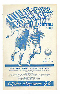 1937/38 Division 3 South - QUEENS PARK RANGERS v. MANSFIELD TOWN