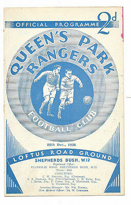 1936/37 Division 3 South - QUEENS PARK RANGERS v. EXETER CITY