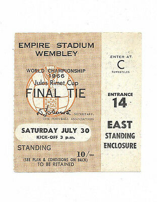 Original Ticket 1966 FIFA World Cup Final - ENGLAND v. WEST GERMANY