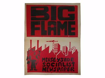 Big Flame Poster,Socialism,Liverpool,c.1979,Socialist,Workers,Ken Loach,1st