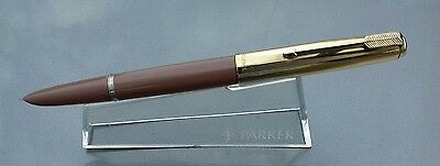Parker 51 Aerometric 1950 COCOA Rolled Gold Cap serviced absolutely mint