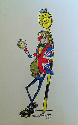 Vintage 'CARNABY STREET' Union Jack KARDORAMA Fashion Swinging 1960's POSTCARD