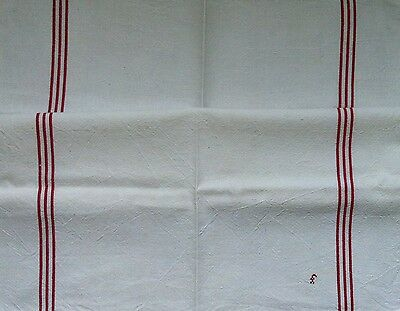 Vintage 'FRENCH FARMHOUSE' Metis FRENCH TORCHON 1950's Initialed Linen TEA TOWEL