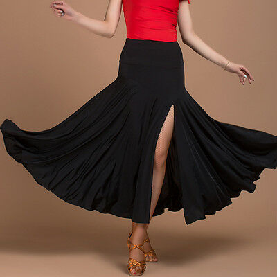 NEW Latin salsa tango rumba Cha cha Square Ballroom Dance Dress#W085 Skirt Black