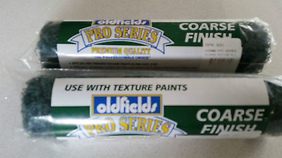2 pcs OLDFIELDS Pro Series COARSE FINISH TEXTURED PAINT ROLLER 230 mm 80% off