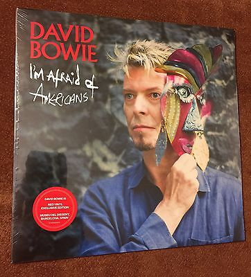 "DAVID BOWIE IS I'M AFRAID OF AMERICANS 7"" RED VINYL EXCLUSIVE new!!"