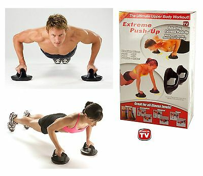 ROTATING PUSH UP BARS Handles Press Ups Bar Home Gym Stands Workout Chest Arm