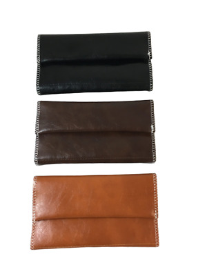 Brown Tobacco Pouch fit 25g cigarette roling papers
