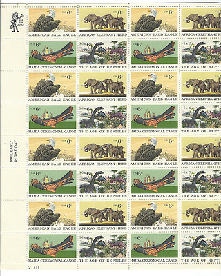 Scott  #1387/90... 6 Cent....Natural History...Sheet of 32 Stamps