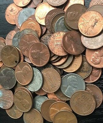 USA Cent United States Lincoln One Cent Coin P Steel Copper 1943-1999 5x Lot Set