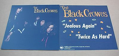 BLACK CROWES Shake Your Money Maker 2 Sided Promo 12x12 Poster Flat 1990 Mint-