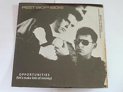 Pet Shop Boys Opportunities 12inch Philippines Vinyl 1986 baseball picture cover