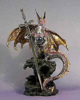 Protection Dragon Slight Second Fantasy Ornament 20 cm High Dark Legends