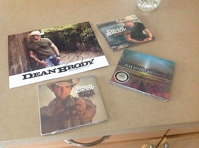 Dean Brody Signed Photo, 3 CD Dirt , Gypsy Road, & Crop Circles