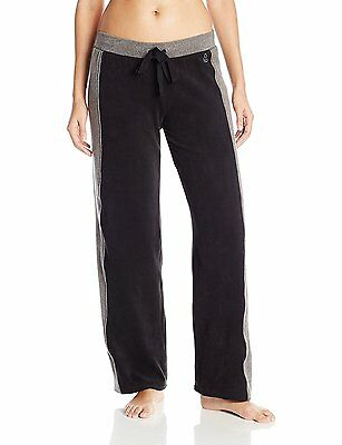 Cuddl Duds Women's Fleece with Stretch Loose Leg Pant, Black, X-Small
