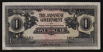 Malaya - Japan occupation WWII Banknote 1 Dollars 1942 P-M5c Block Letters MO