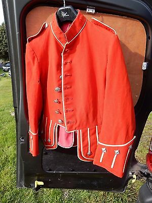 Early 2Oth C Childs Pipers Jacket   Blood Red   Very Kitsch  Age 10 -11 Approx