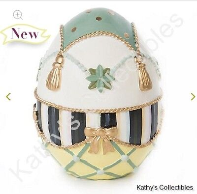 Authentic Mackenzie Childs    Coronation Egg - Medium   New