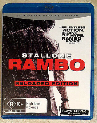 Rambo - Reloaded Edition (Sylvester Stallone) BLU-RAY LIKE NEW (Region B)