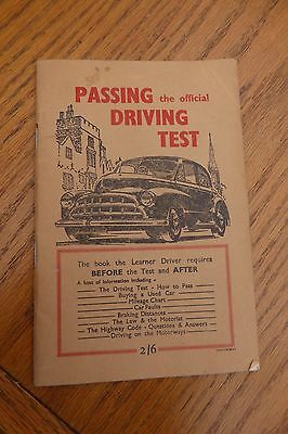 Passing the official Driving Test (vintage) book