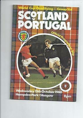 Scotland v Portugal 1980 International Football Programme October 15th
