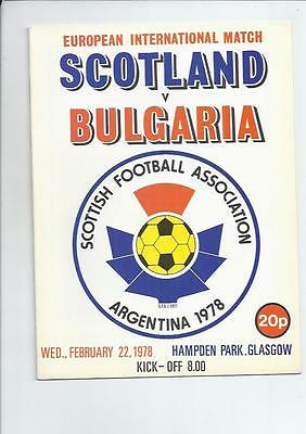 Scotland v Bulgaria 1978  International Football Programme