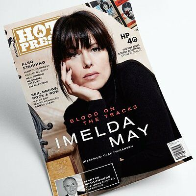Hot Press magazine:Imelda May/ Martin Scorsese / Martin Mc Guinness /Neil Jordan