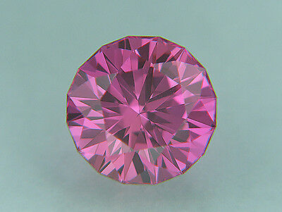 Pink Sapphire. Lab Grown. Deep Color. Round Barion.11 mm. 7.70cts. Precision Cut