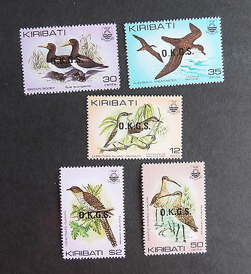 Kiribati 1983 Birds OP OKGS overprint SGO36/40 UM MNH unmounted mint officials