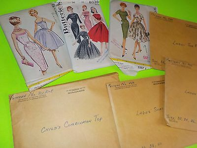 Vtg Lot of Patterns Dept of National Defence and McCalls Butterick Sewing