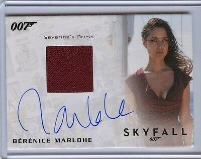 2017 James Bond Archives Final Edition Skyfall BERENICE MARLOHE Relic Autograph