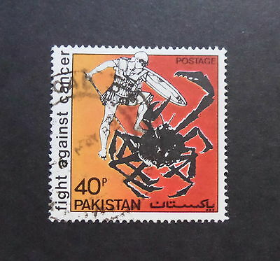 Pakistan 1979 Fight Against Cancer Crab SG510 postally used as photo
