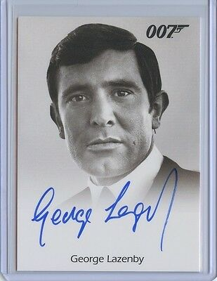 2017 James Bond Archives Final Edition GEORGE LAZENBY Full Bleed Autograph