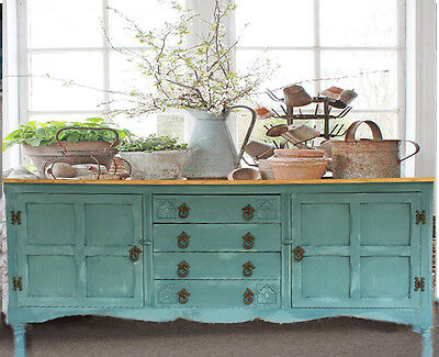 shabby chic vintage french style country farmhouse solid oak buffet sideboard. Black Bedroom Furniture Sets. Home Design Ideas