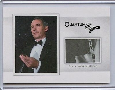 2017 James Bond Archives Final Edition Relic card MR8 Opera Program /160