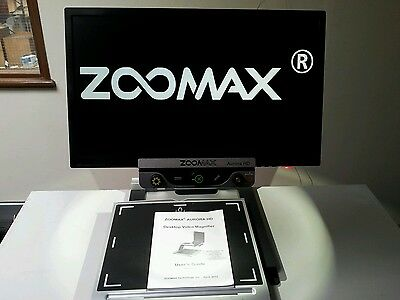 "Zoomax Aurora HD - 24""  Desktop Video Magnifier  - 70X Zoom"