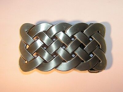 Celtic Weave Style Oblong Belt Buckle to fix to own belt
