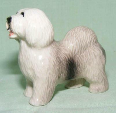 Klima Miniature Porcelain Animal Figure Bearded Collie Standing K545