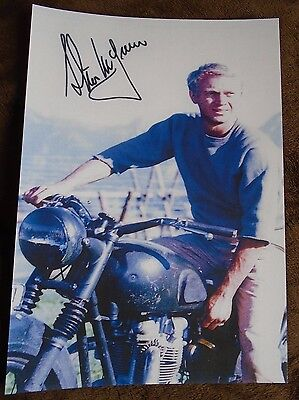Steve McQueen The Great Escape Signed A4 Print