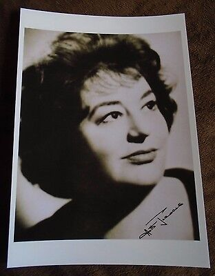 Hattie Jaques Signed A4 Print (Carry On Films)