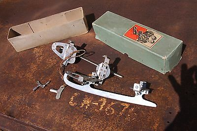 Antique Ice Skates Joh.pet. Becker Junior Grief Brand In Original Box Size 31-32